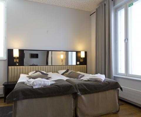 Bedroom at Hotel Red & Green Närpes Närpiö