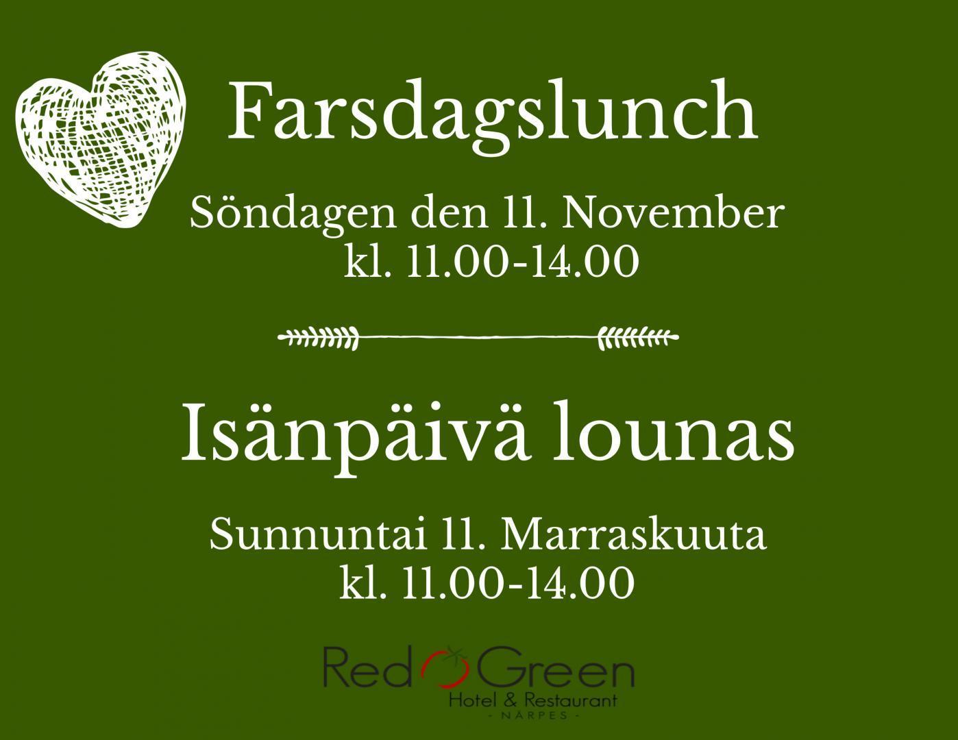 Farsdag Hotel Red & Green 2018 11.11 Närpes