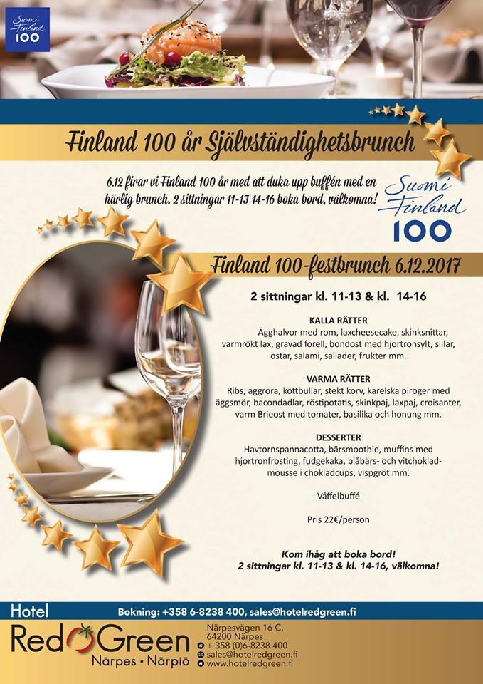 Självständighets brunch 2017 Suomi 100 Närpes