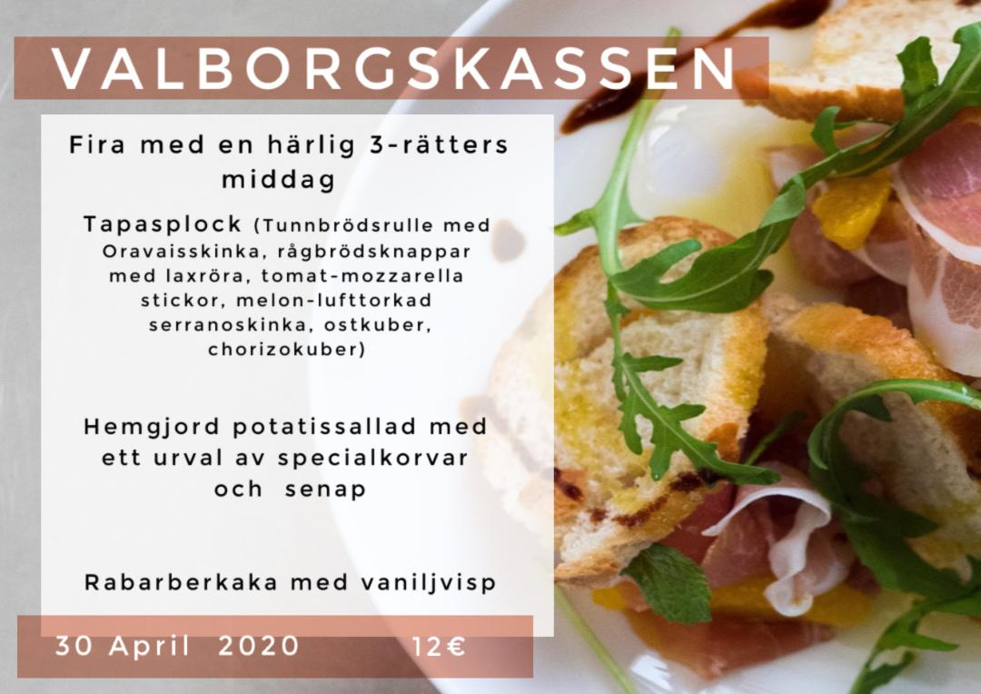 Valborg 2020 Närpes Hotel Red & Green take away kassen